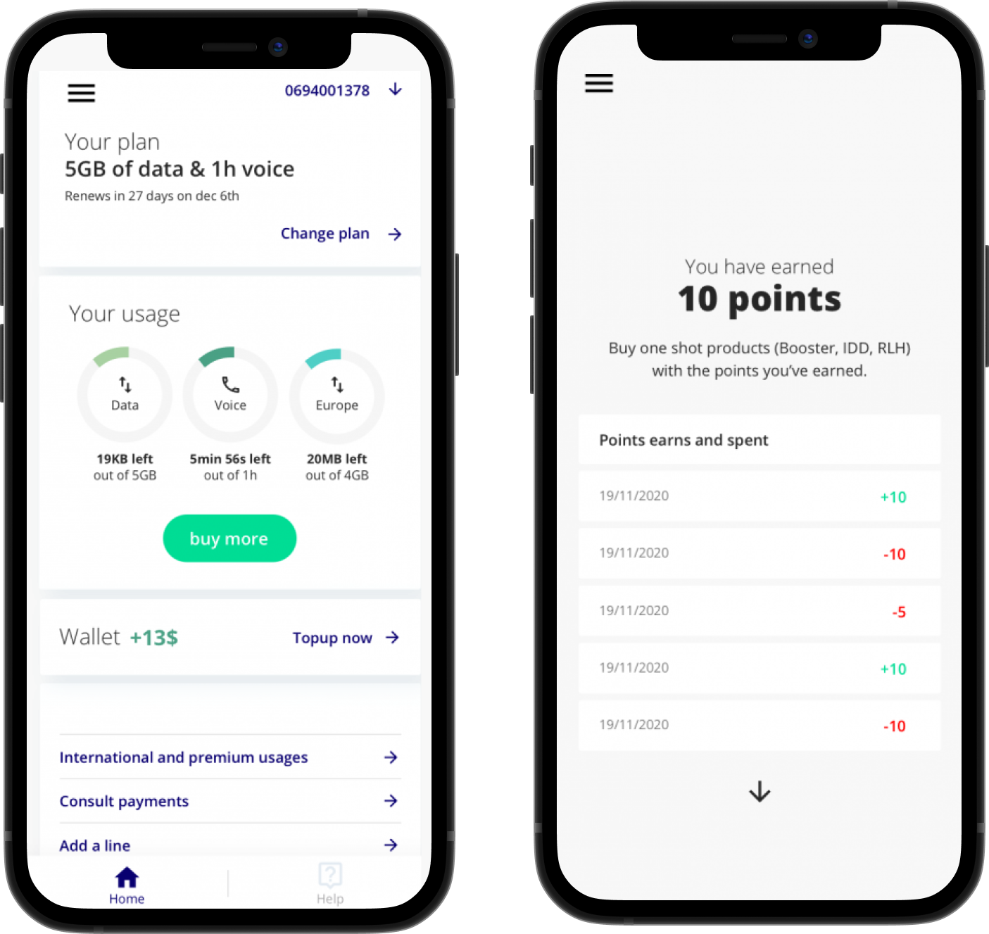 Monitor your plan and get Rewards from triPica's app